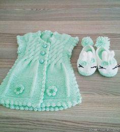 Bebek Yelek Patik Takımı ,  #örgüpatiktakımları #örgüyelektakımları , İstenilen renk ve modelde sipariş alınır.  ...