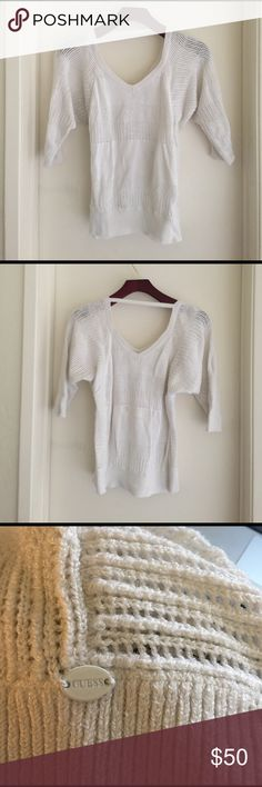GUESS  Woven Blouse⬇️ONE HOUR SALE 50% OFF⬇️ GUESS Woven Blouse color White size M Regular price $85.00 Now $50.00 Guess Tops Blouses