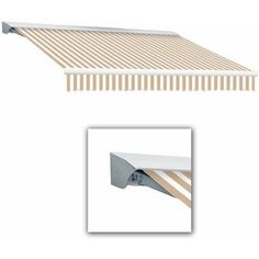 Destin-LX with Hood Manual Retractable Awning, 18 ft.W x 10 ft.Proj, Beige
