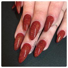 Glamorous red #coloredacrylic #nails #nailed #nailswag #instanails #nails2inspire #nailstagram #nailgasm #nailporn #dailynails #lovelynails #lovewhatido #love #rockstar