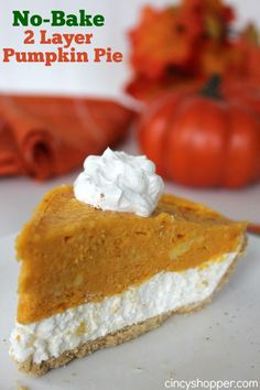 no back two layered pumpkin pie