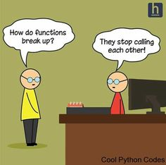 Check 28 Humor Jokes Laughing so Hard. Tell some jokes to your friends and make them laugh. Python Code, Computer Jokes, Computer Science, Programming Humor, Python Programming, Tech Humor, Geek Humour, Nerd Jokes, Science Humor