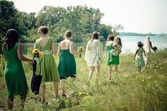 Forget Matchy, Matchy UnMatched Bridesmaid Dresses Are In