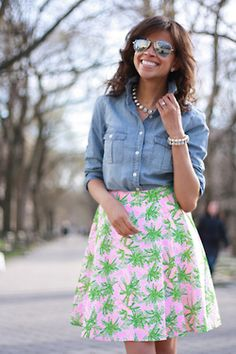 LOVE the styling of this meadow skirt!! #lillypulitzer