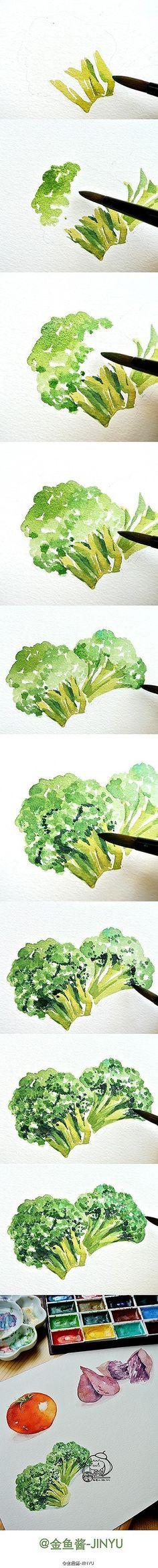 [Живопись учебный план] заключается в том, что сортировка фруктов и овощей натюрморт акварель живопись