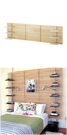 Give your IKEA Mandal headboard shelves with this cool IKEA hack.