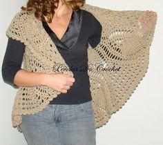 * Pearls Crochet: crochet vest with circular chart