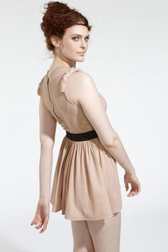 The Warrior Dress by 100% NY is a zero-waste sleeveless dress made of 100% #organic cotton jersey >> http://designandkindness.blogspot.com.au/2012/11/want-100-sustainable-fashion-head-to.html