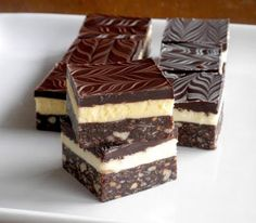 Traditional Nanaimo Bars