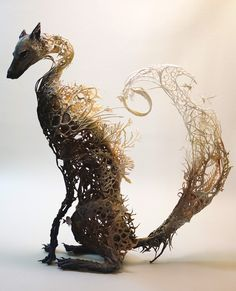 Surrealist Sculptures by Ellen Jewett Merge Plant and Animal Life  http://www.thisiscolossal.com/2015/03/surrealist-sculptures-by-ellen-jewett-merge-plant-and-animal-life/
