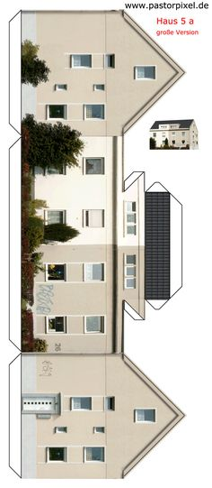 Ausschneidebogen Dortmund Haus