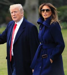 Celebrities Then And Now, Greatest Presidents, First Lady Melania Trump, Long Live, Donald Trump, Women's Fashion, Long Hair Styles, Coat, How To Wear