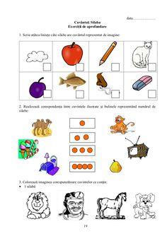 Imagini pentru doua silabe clasa pregatitoare Nicu, Crafts For Kids, Schoolgirl, Crafts For Children, Kids Arts And Crafts, Kid Crafts, Craft Kids