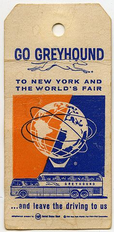 Go Greyhound to New York and the World's Fair - 1964