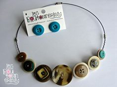 Hey, I found this really awesome Etsy listing at https://www.etsy.com/listing/166123476/necklace-to-buttons