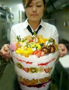 Biggest fruit parfait
