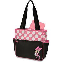 Amazon.co.jp: ディズニー [Disney] ミニーマウス マザーズ  トートバッグ Disney Minnie Mouse Diaper Tote, Pink/Black 【並行輸入品】: ベビー&マタニティ