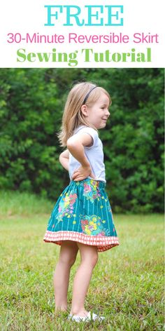Free Reversible Skirt Sewing Tutorial with Step by Step Photos.