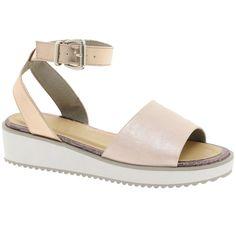 Asos Vacuum Flatform Sandals ($70) ❤ liked on Polyvore