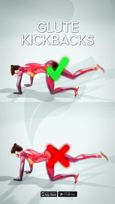 Glute kickbacks are a great way to build strength and size in your glutes. It's a common exercise that you'll see in workouts or at the gym and is one that you should definitely include in your own workout routine. If you want to know how to complete this exercise in the right way, FitonomyApp has created the perfect form for you. Shape and firm up those glutes by training with us. Download it now, we will be there to guide you. 💪 #glutesexercise #glutekickback #lowerbodyworkout #homeworkout Full Body Gym Workout, Gym Workout Videos, Gym Workout For Beginners, Fitness Workout For Women, Butt Workout, Gym Workouts, At Home Workouts, Glute Kickbacks, Senior Fitness
