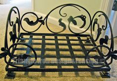 Beautiful Custom Wrought Iron Pet Bed !  Just add a cushion and your dog/cat will be resting in style! #petbed