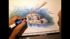 Military Series:  U.S. Navy SH-60 Seahawk Helicopter Aircraft - TIme Lapse Drawing