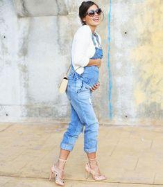 look-gravida-macacao-jeans