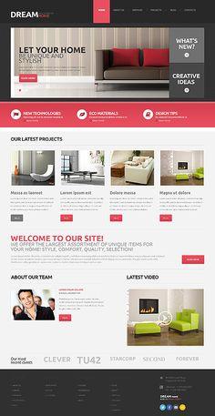 Interior Design Responsive WordPress Theme wordpress website template