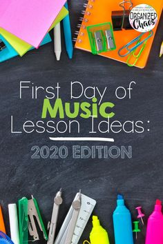 First Day of Music Lesson Ideas: 2020 edition