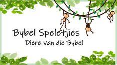 Bybel Speletjies: Diere van die Bybel Sunday School Teacher, Minute To Win It, Youth Ministry, Matching Games, Afrikaans, Teaching Kids, Bible, Van, Christian