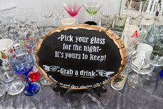 """""""Pick your glass for the night - it's yours to keep!"""""""