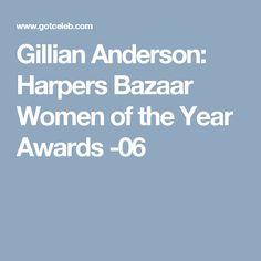 Gillian Anderson: Harpers Bazaar Women of the Year Awards -06