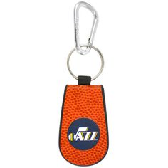 Utah Jazz Basketball Leather Keychain - $7.99