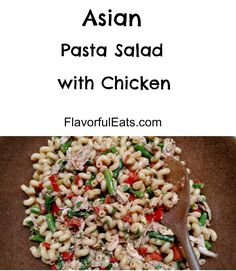 Asian Pasta Salad with Chicken - Flavorful Eats Chicken Pasta, Chicken Salad, Side Dish Recipes, Side Dishes, Asian Pasta Salads, Real Food Recipes, Chicken Recipes, Cold Pasta, Balanced Life