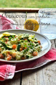Cous cous con verdure, limone e maggiorana