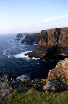Eshaness on Shetland. The wild, rugged topography of this site was my inspiration for the shape of my fictional island of Hvitmar.