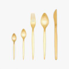 Image of the product Gold-plated cutlery