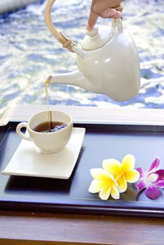 Enjoy the tea after your treatment at Lagoon Spa Seminyak #spa #tea #treatment #fresh