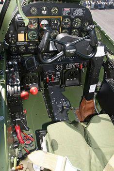 Vintage Aircraft Lightning Cockpit - Key Publishing Ltd Aviation Forums Ww2 Aircraft, Fighter Aircraft, Military Aircraft, Fighter Jets, Image Avion, Lockheed P 38 Lightning, Aircraft Interiors, Ww2 Photos, Ww2 Planes