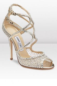 Crystal wedding shoes by Jimmy Choo