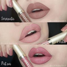 Stila Stay All Day Liquid Lipsticks - Nudes: Serenata - Perla - Patina #LipstickTutorial
