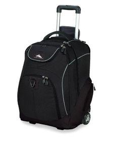 Amazon.com: High Sierra Powerglide Wheeled Book Bag (21 x 14 x 9-Inch, Black ): Sports & Outdoors