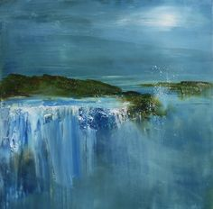 The Falls By Moonlight Painting by Maurice Sapiro Abstract Nature, Abstract Landscape, Landscape Paintings, Abstract Flowers, Oil Painting Trees, Oil Painting Abstract, Painting Wallpaper, Painting Flowers, Wallpaper Desktop
