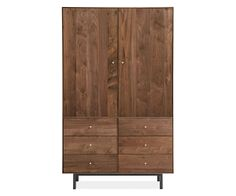 Room & Board - Hudson 71h 44x24 Armoire with Wardrobe Bars & Steel Base