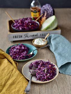 Pradobroty: Coleslaw Coleslaw, Salad Dressing, Salad Recipes, Cabbage, Salads, Gluten Free, Cheese, Fresh, Vegetables