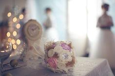 DIY winter wedding tutorials, sugar plum fairy inspired wedding, DIY bridal bouquet