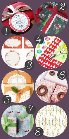 DIY Printable Holiday Gift Wrap and Gift Tags