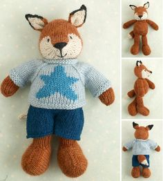 This listing is for a PDF file containing full instructions for knitting and finishing a little fox boy with a star on his sweater and shorts. The file contains over 50 detailed step-by-step photographs along with full pattern instructions and tips for stuffing, seaming and finishing neatly. It is less of a knitting pattern and more of a 'how to' manual.The pattern is for knitting flat on two needles and all pieces are seamed afterwards. Please note that this project is not a quick or simple…