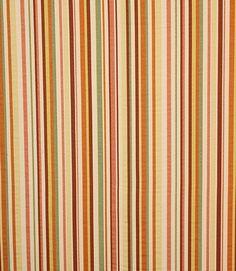Beautiful striped fabric in autumnal colours  http://www.justfabrics.co.uk/curtain-fabric-upholstery/orange-rimi-fabric/