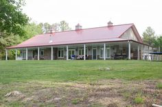 Metal Building Home w/ Awesome Wrap-around Porch (HQ Plans & 8 Pictures)   Metal Building Homes